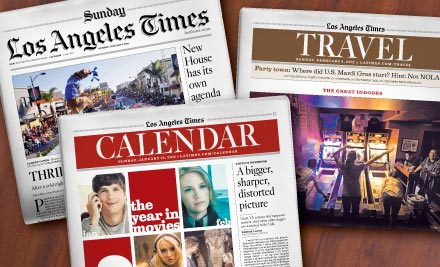 1 Year of Sunday Papers from the LA Times