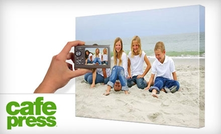 National Groupon for 16X20 Inch Personalized Canvas from CafePress for $39