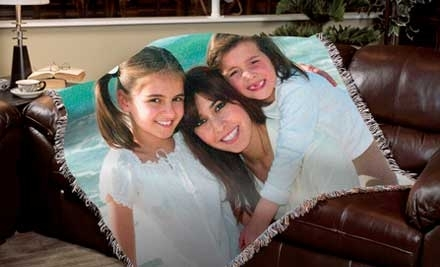National Groupon for Custom 70x53 inch Photo Blanket, Plus Shipping ($129 Value) for $64