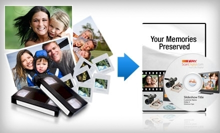 National Groupon for $100 Worth of Photo and Video Digitization Services  for $40