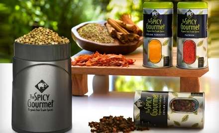 National Groupon for $15 for $40 Worth of Organic, Fair-Trade Spices, Plus a Four-Spice Sampler Pack