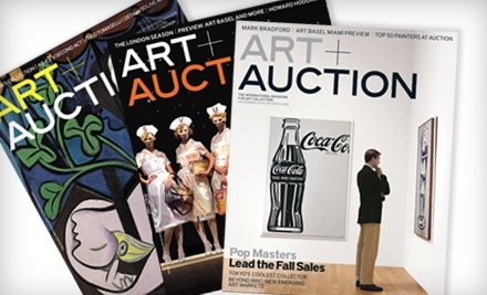 National Groupon for One-Year Subscription to Art + Auction Magazine ($80 Value)