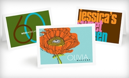 National Groupon for Fabulous Personalized Stationery
