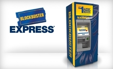 National Groupon for 5 One-Night DVD Rentals from BlockBuster Express for Only $2
