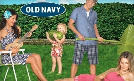 National Groupon for Half Off $20 Worth of Summer Apparel from Old Navy