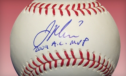 National Groupon for One Autographed 2009 AL MVP Joe Mauer Baseball from Powers Collectibles in Burnsville
