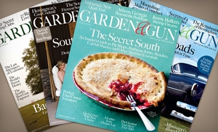 National Groupon for 1-Year Subscription to Garden & Gun Magazine for $10 ($19.97 Value)
