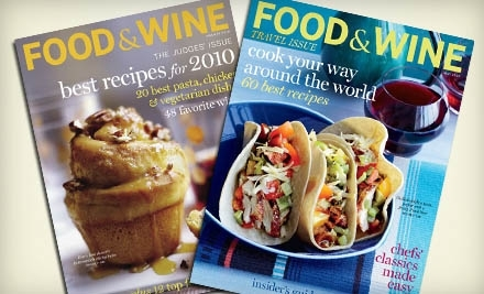 National Groupon for 15 Issues of Food & Wine Magazine for $12 ($24.99 Value)