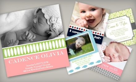 National Groupon for $30 Worth of Custom Invitations, Announcements, and Holiday Greeting Cards for $15