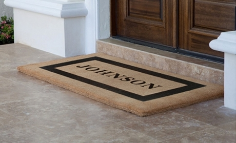 National Groupon for $50 Worth of Custom Products from The Personalized Doormats Company for $25