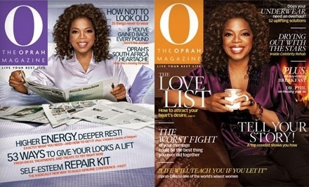 National Groupon for One-Year Subscription to O, The Oprah Magazine for $10 (Up to $28 Value)