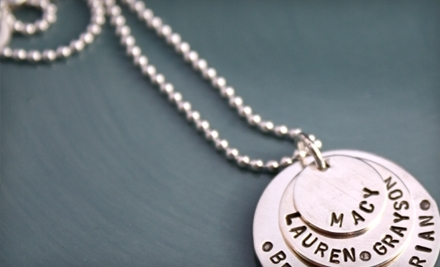National Groupon for $50 Worth of Custom-Made Silver Charms for $25