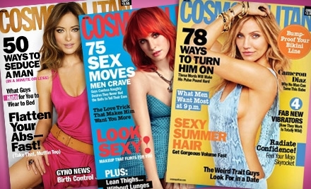 National Groupon for 1 Year Subscription to Cosmopolitan Magazine for $8 ($15 Value)