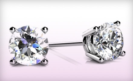 National Groupon for Diamond Stud Earrings from Nikash Diamonds (From $159)