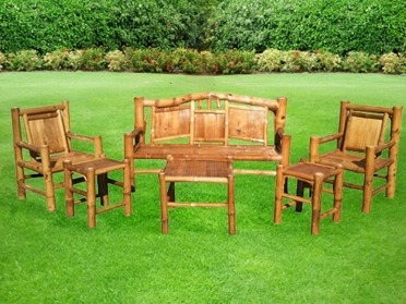 National Groupon for Six-Piece Bamboo Outdoor-Furniture Set from Backyard X-Scapes