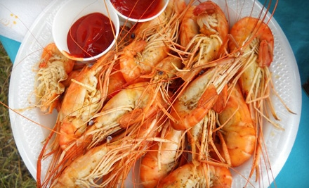 One or Two Admissions to Sans Soucy Vineyards' Shrimp & Wine Festival in Brookneal