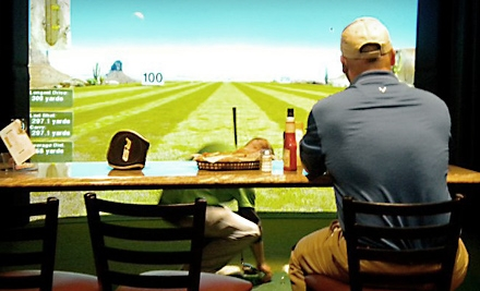 Dinner for Two or Four and a One-Hour Golf-Simulator Experience at Beyond the Green Indoor Golf & Sportsbar in Moneta