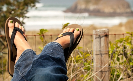 $15 for Pair of All-Natural Rubber Flip-Flops from Feelgoodz (Up to $30 Value)