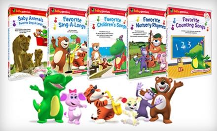 $25 for Five Educational Children's DVDs, Plus Five Bonus CDs, from Baby Genius ($49.75 Value)