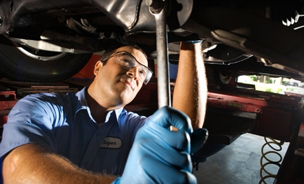 $24 for Oil Change, Tire Rotation, Inspection, and Car Wash at Rockwall Ford ($54.97 Value)